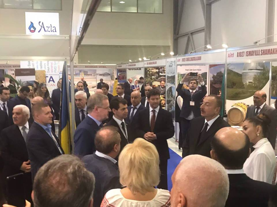Виставка AITF 2017: другий рік поспіль трускавчан вшановує президент Азербайджану Ільхам Алієв